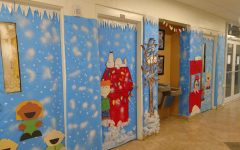 Charlie Brown Winter Wonderland in EC Hallway