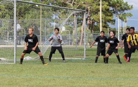 Boys Soccer Defends Goal