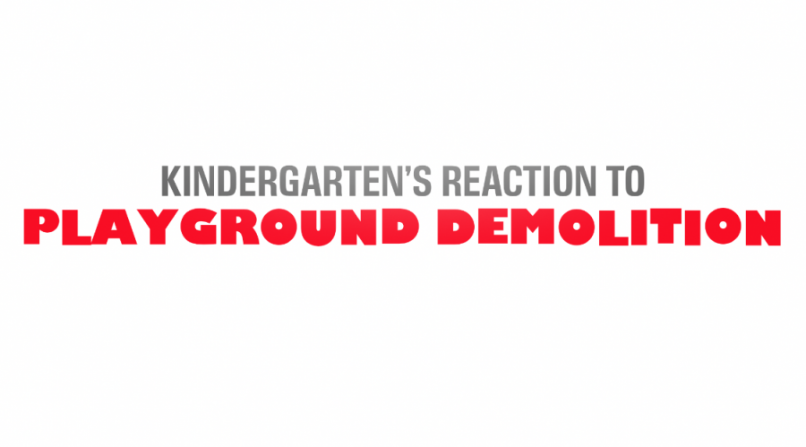 Kindergarten's Reaction to Playground Demolition