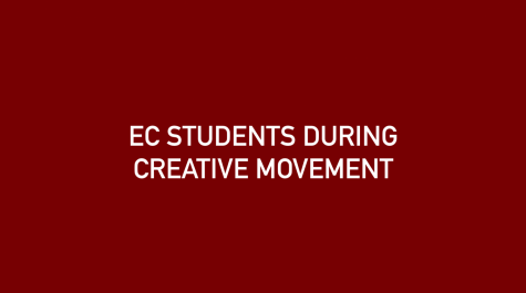 Early Childhood Students During Creative Movement